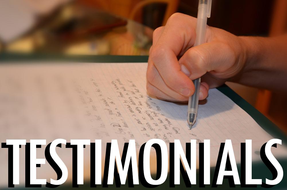 """Testimonials"""